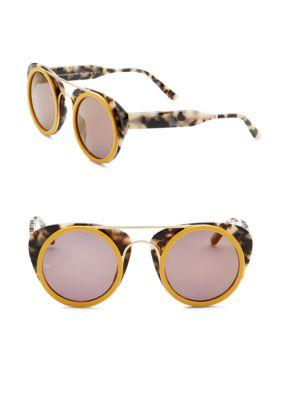 Smoke X Mirrors Soda Pop, 47Mm, Round Sunglasses In Tortoise