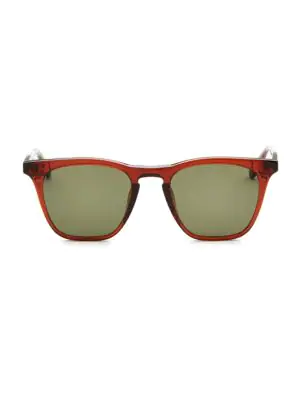 Smoke X Mirrors Rocket, 50Mm, Rectangle Sunglasses In Green Grey