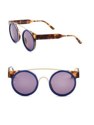 Smoke X Mirrors Soda Pop, 47Mm, Round Sunglasses In Havana Blue