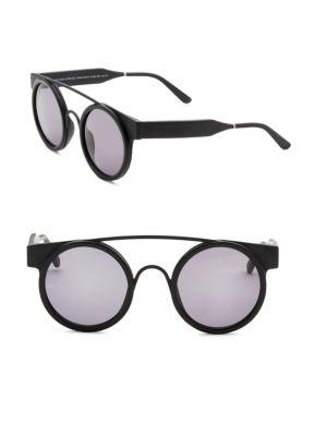 Smoke X Mirrors Soda Pop, 47Mm, Round Sunglasses In Black Matte