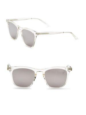 Smoke X Mirrors Rocket, 50Mm, Rectangle Sunglasses In Crystal
