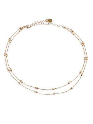 Jules Smith Aiden Double-Strand Choker In Gold