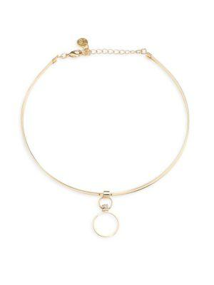 Jules Smith Whirl Collar Necklace In Gold