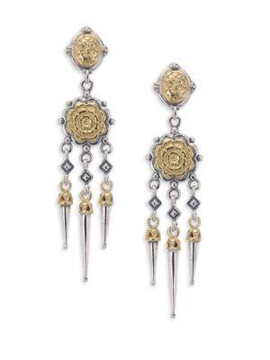 Konstantino Gaia Chandelier Earrings In Silver-Gold