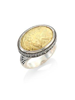 Konstantino Gaia Dome Ring In Silver/ Gold