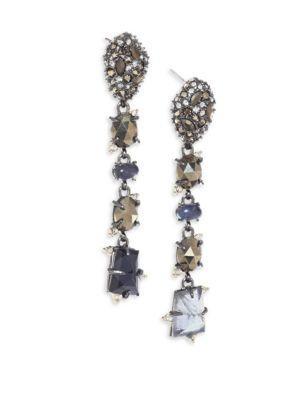 Alexis Bittar Elements Semi-Precious Multi-Stone Linear Earrings