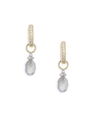 Jude Frances Provence Champagne Briolette Diamond & Labradorite Earring Charms