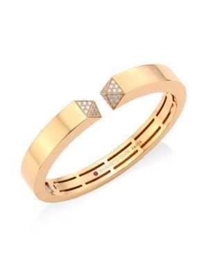 Roberto Coin Sauvage PrivÉ  Diamond & 18K Rose Gold Bangle