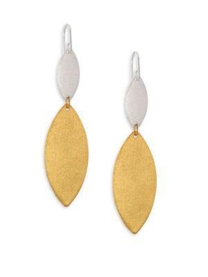 Stephanie Kantis Breeze Double-Drop Earrings In Gold-Silver