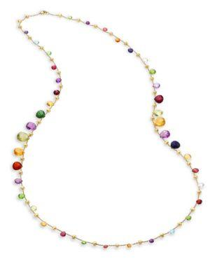 Marco Bicego Paradise Semi-Precious Multi-Stone Elevated Long Necklace/36""