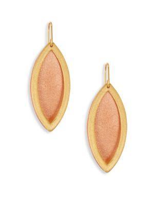 Stephanie Kantis Reveal Two-Tone Drop Earrings In Rose-Gold