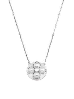 Majorica Luck 8Mm White Mabe Pearl & Sterling Silver Pendant Necklace