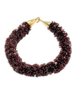 Lizzie Fortunato Burgundy Spirit Sequin Collar