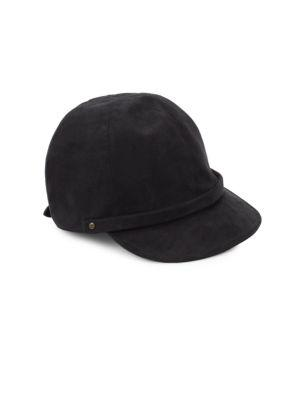 Eric Javits Mika Microfiber Suede Cap In Black