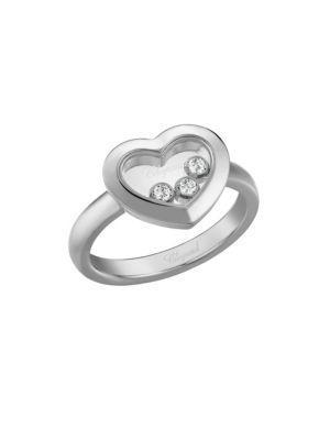 Chopard Happy Diamonds Heart 18K White Gold Ring