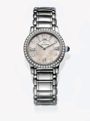 David Yurman Classic 30Mm Quartz Watch With Diamonds In Silver
