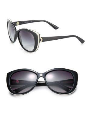 Bvlgari 57Mm Nylon Cat'S-Eye Sunglasses In Black