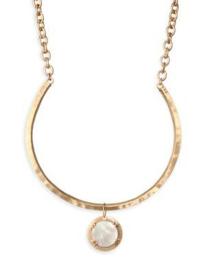 Stephanie Kantis Paris Mother Of Pearl & 18K Goldplated Necklace In Yellow Gold