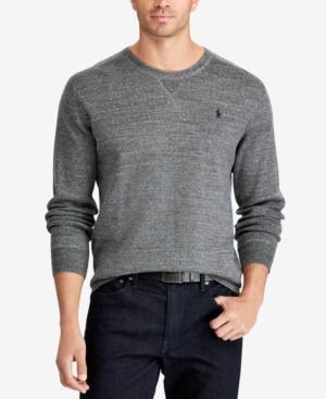 Polo Ralph Lauren Men's Big & Tall Crew-Neck Sweater In Sierra Grey Heather