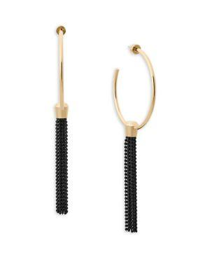 Michael Kors Cool And Classic Chain Tassel Earrings In Yellow Gold