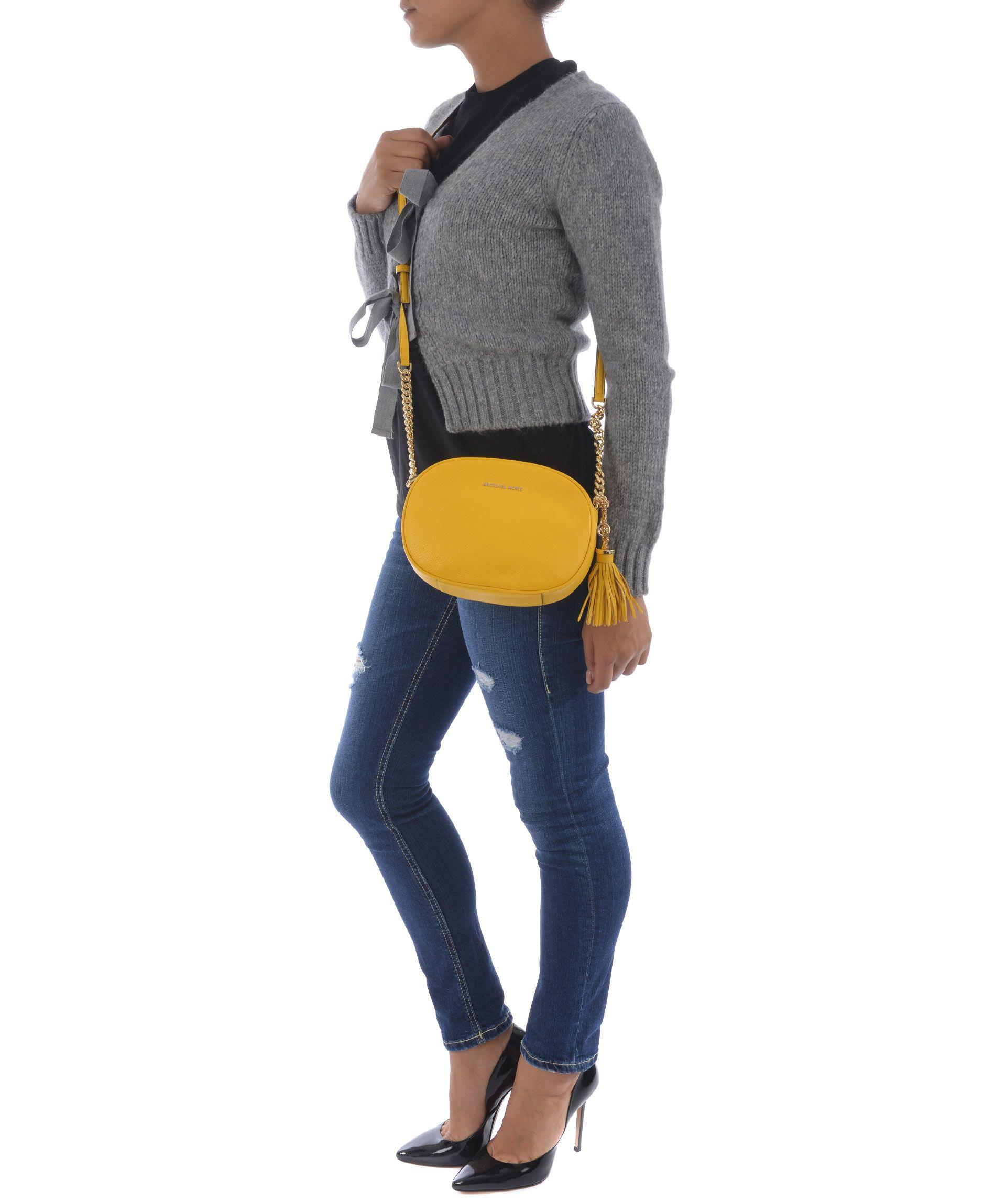 Michael Kors Ginny Medium Shoulder Bag In Giallo
