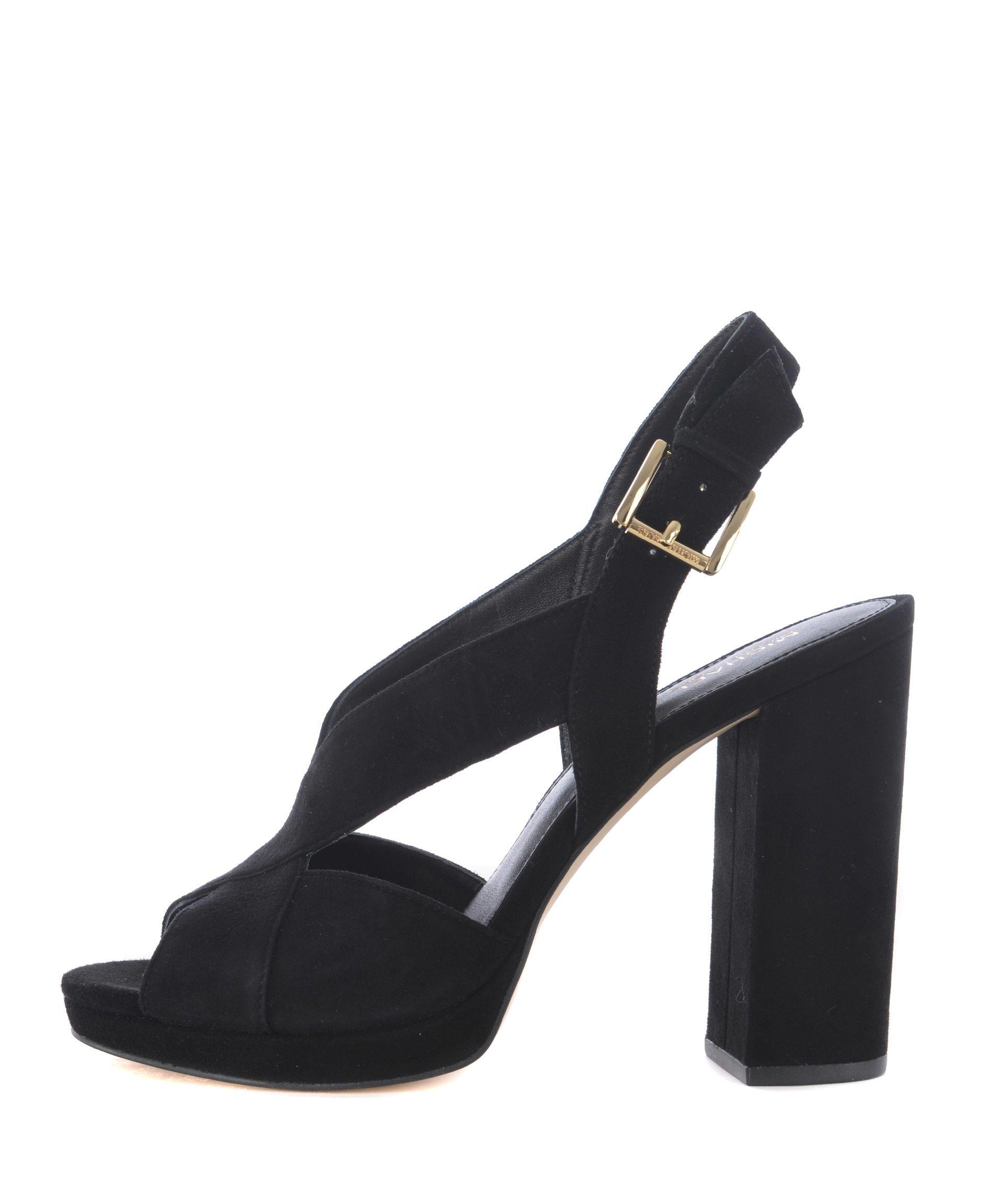 Michael Kors Ankle Length Sandals In Nero