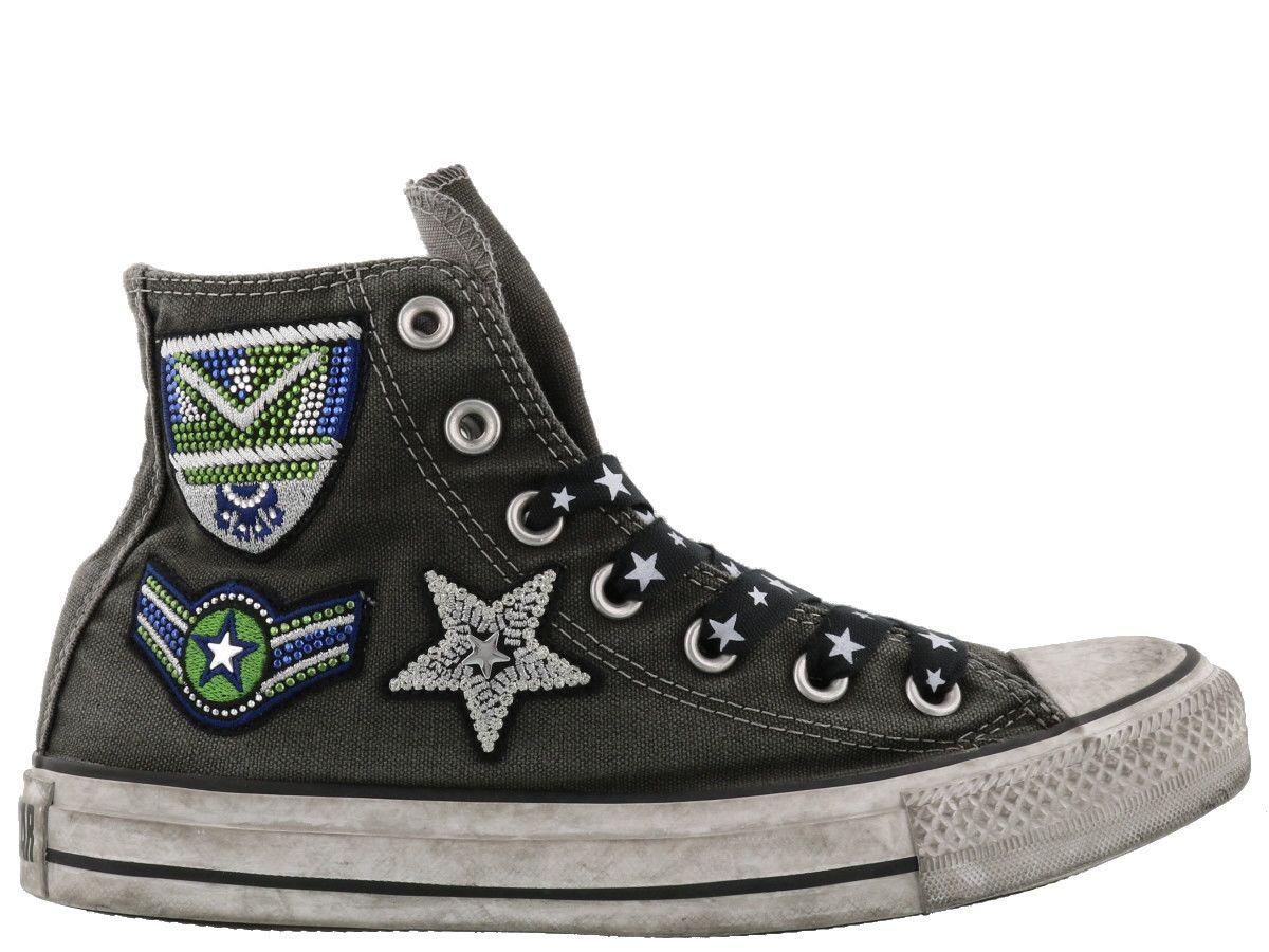 Converse Army Patchwork Sneakers In Grey
