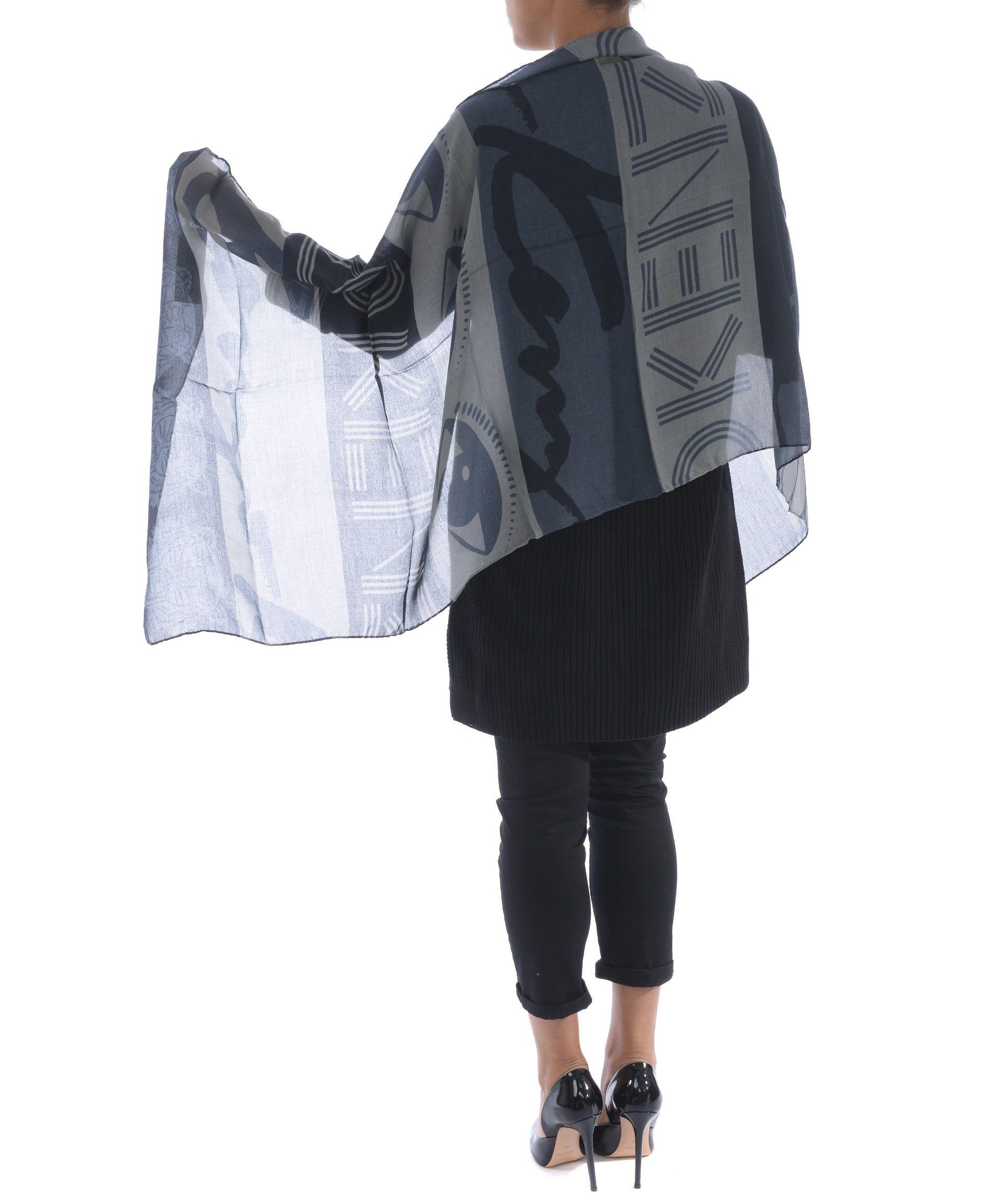 Kenzo Off-White Contrast Trousers In Grigio/Blu