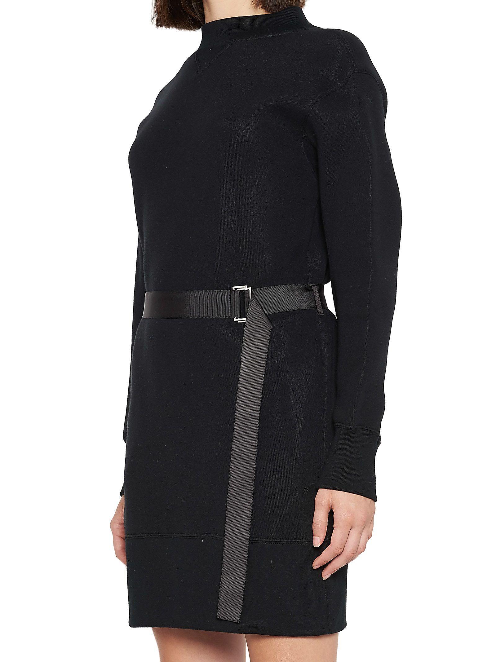Sacai Black Cotton Dress
