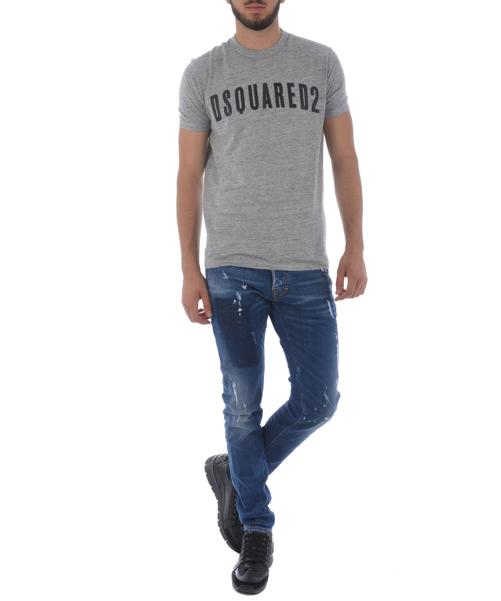 Dsquared2 Distressed Cool Guy Jeans In Denim