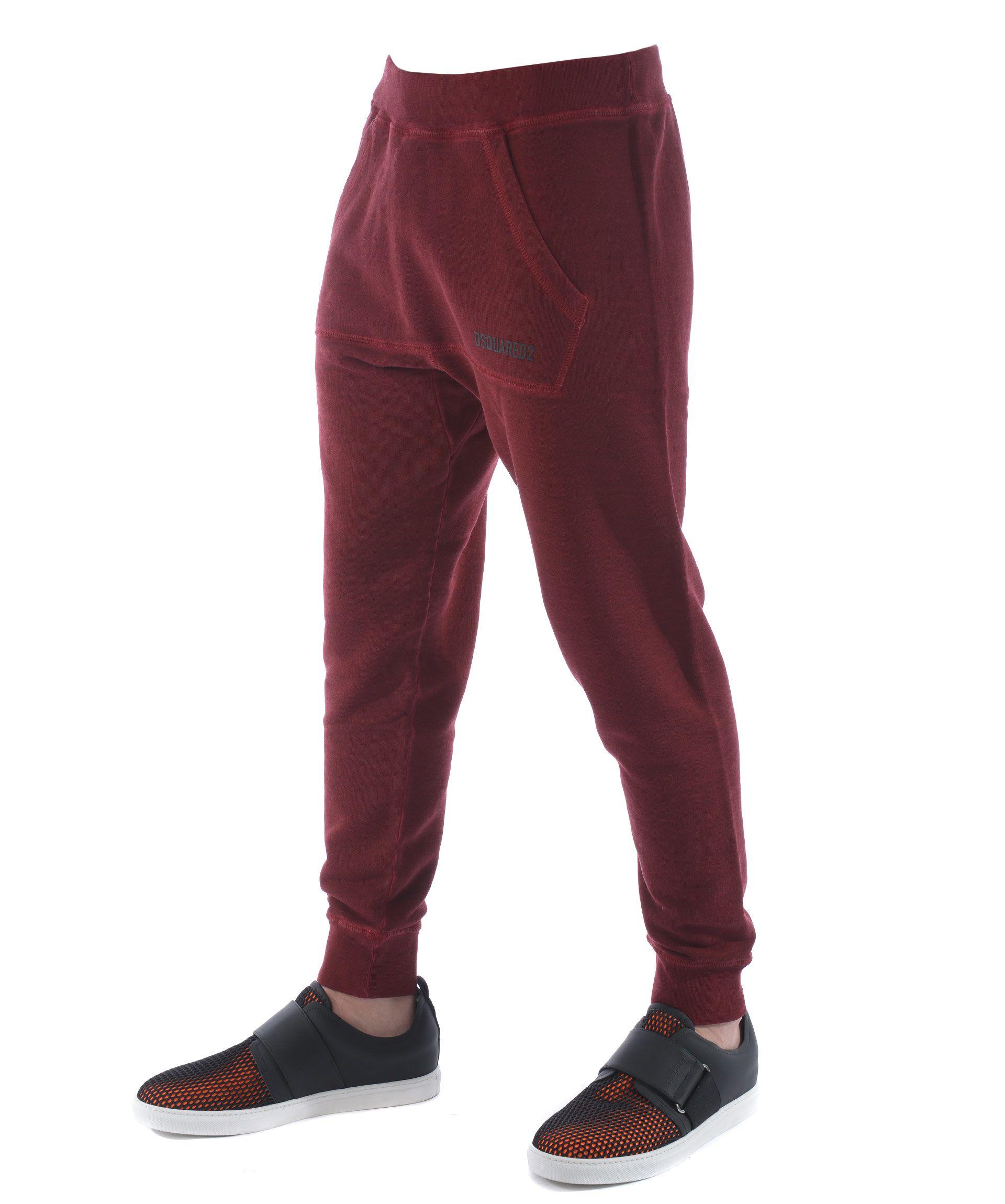 Dsquared2 Tapered Track Pants In Bordeau