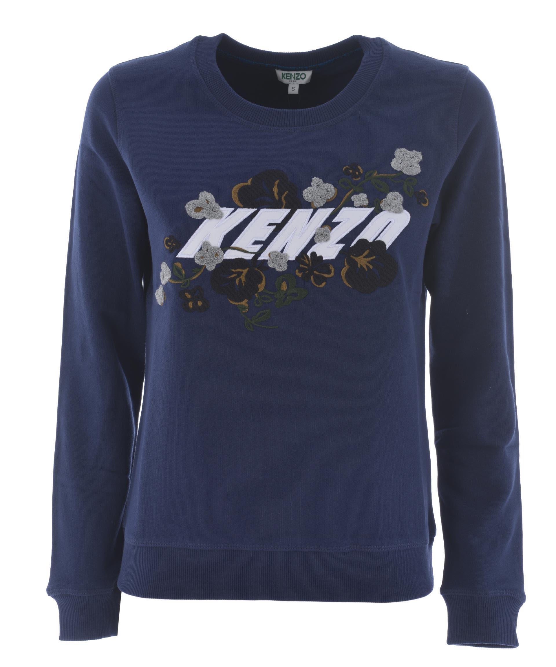 Kenzo X Floral Leaf Sweatshirt In Blu
