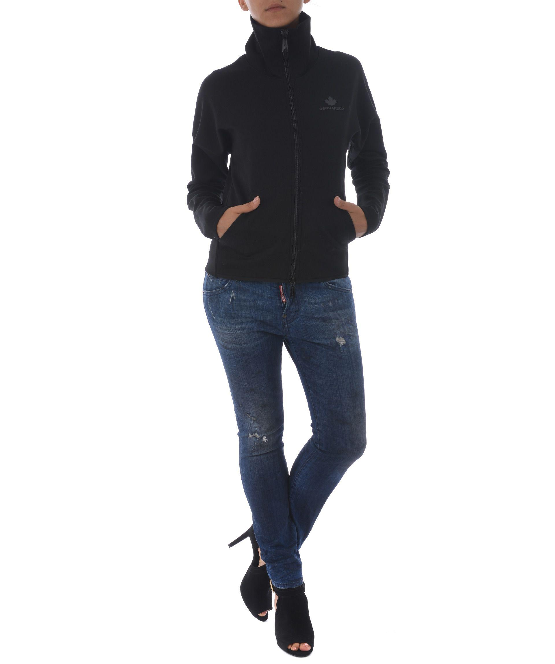 Dsquared2 Zipped Jacket In Nero