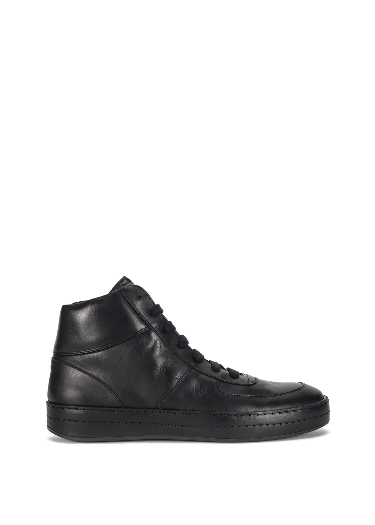 Ann Demeulemeester High Top Sneaker In Black