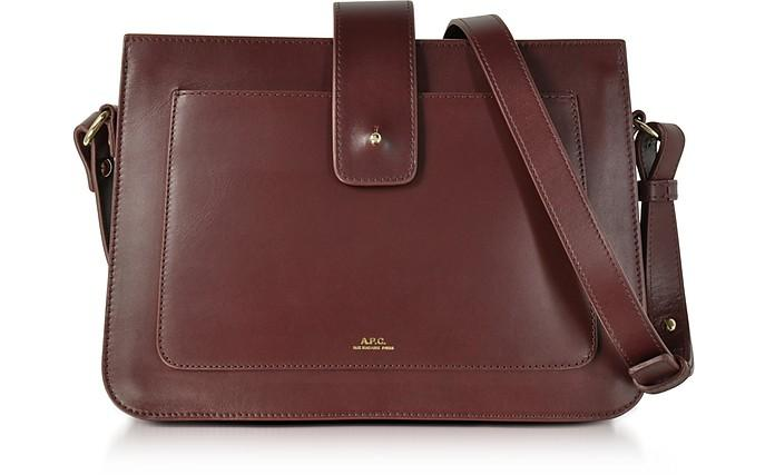 A.P.C. Albane Lie De Vin Leather Crossbody Bag