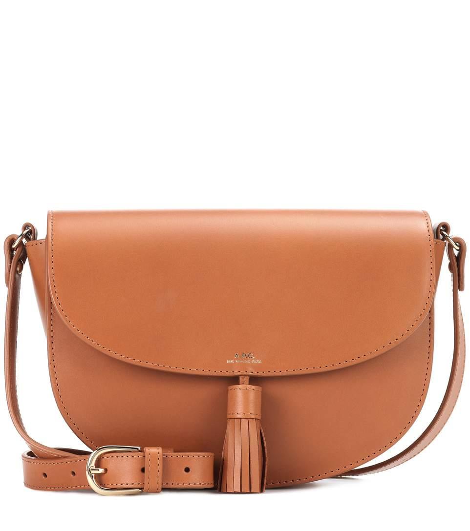 A.P.C. Diane Leather Shoulder Bag In Brown
