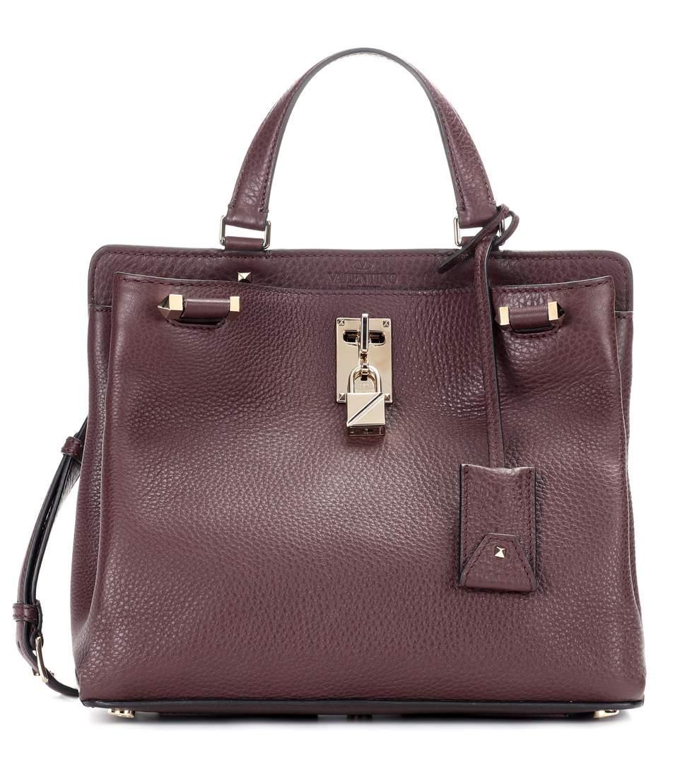 Valentino Garavani Joylock Leather Handbag In Deep Rulie