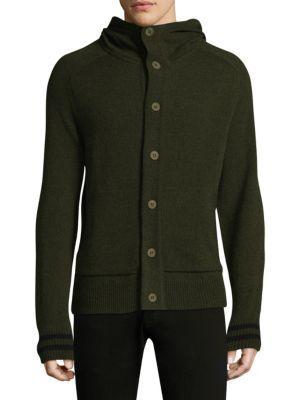 Tomas Maier Soft Merino Wool Hoodie In Blue Green