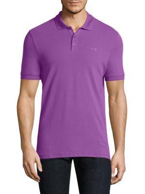 Armani Collezioni PiquÉ Polo In Purple