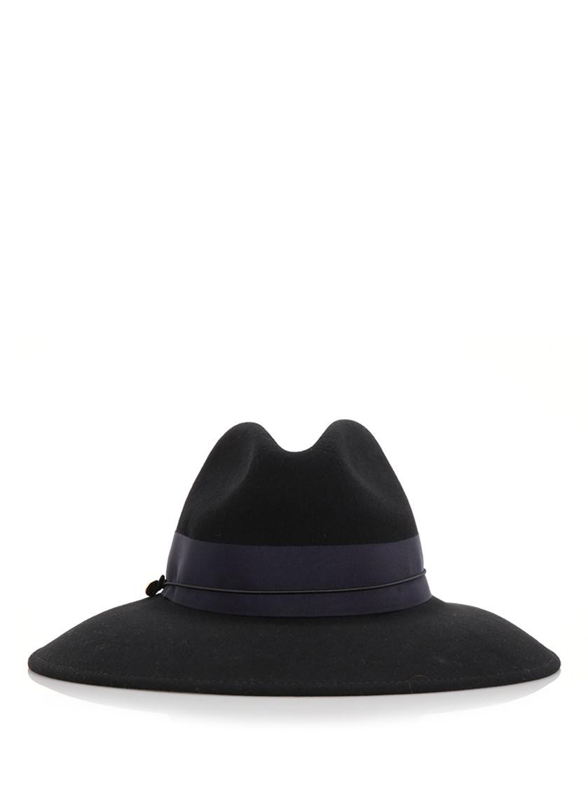 Federica Moretti Wide- Brimmed Hat In Black