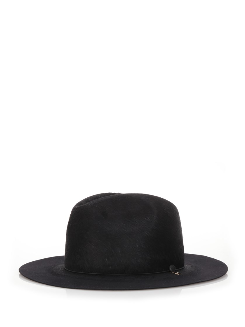 Federica Moretti Fedora Hat In Black