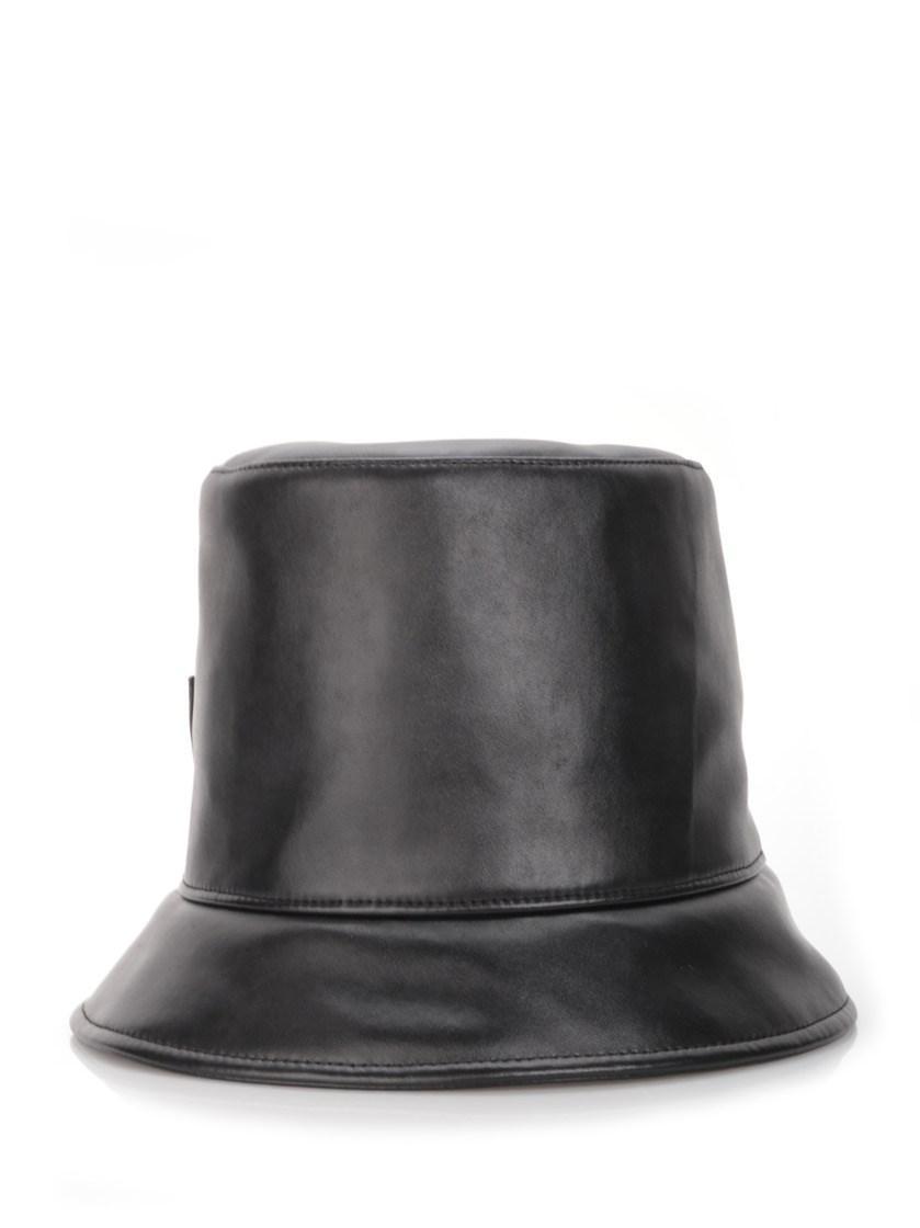 Federica Moretti 'Vivi' Faux Leather Hat In Black