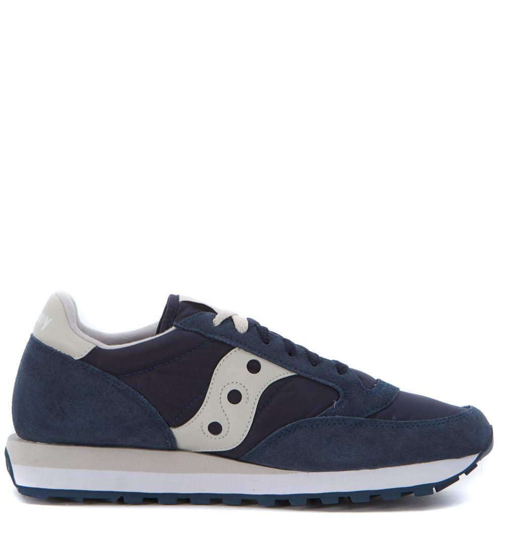 Saucony Sneaker  Jazz In Blue Suede And Nylon