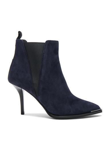Acne Studios Jemma Suede Ankle Boots In Blue