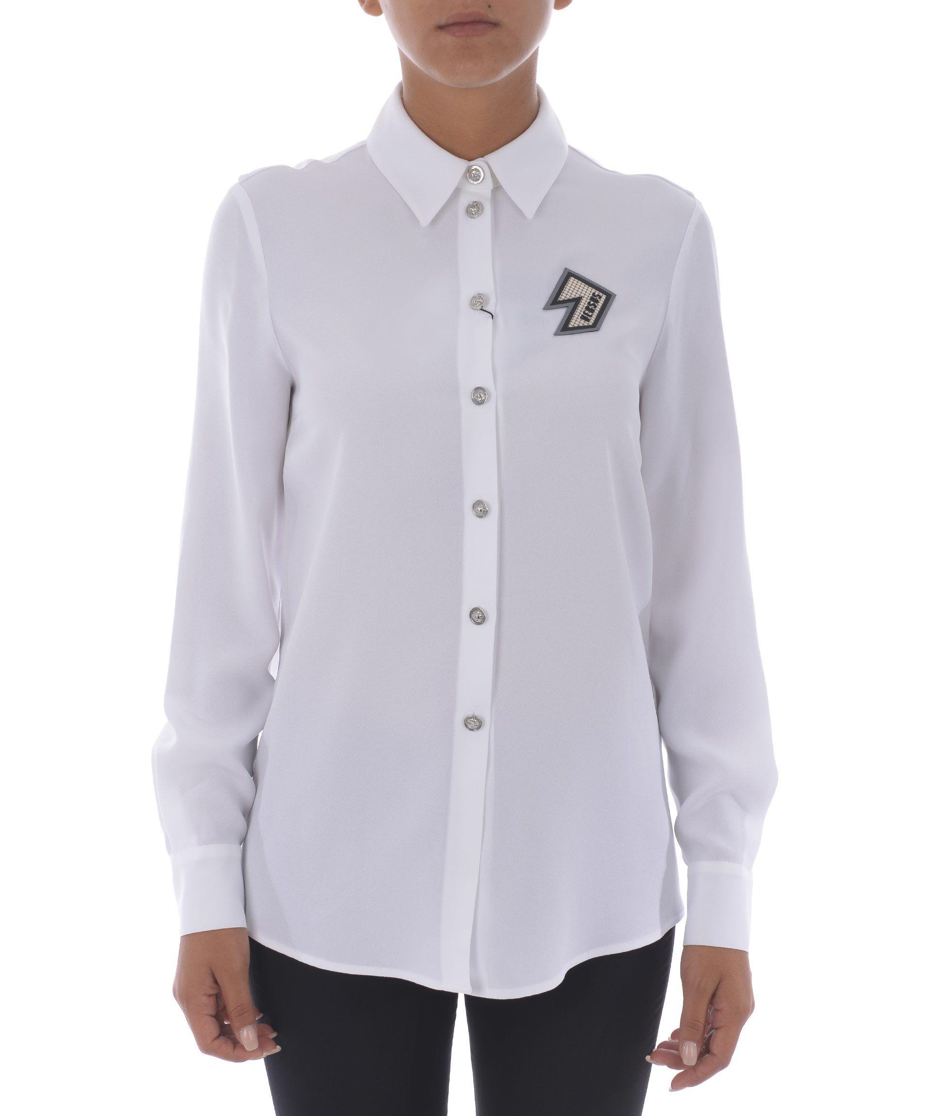 Versus Cutout Shirt In Bianco