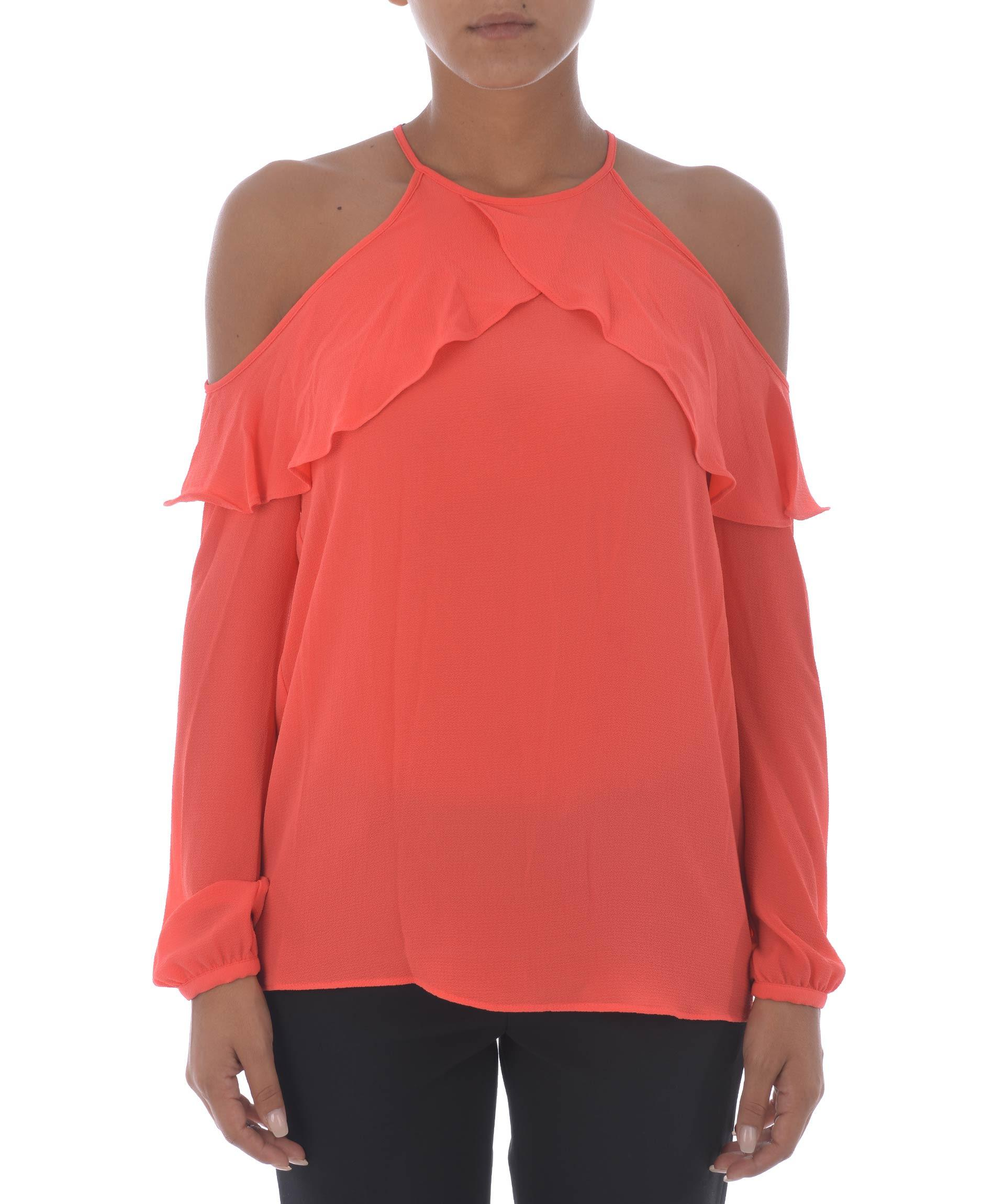 Michael Kors Cold Shoulder Top In Corallo