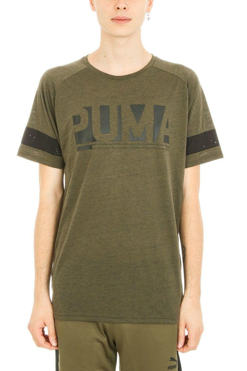 Puma Green Cotton T-Shirt