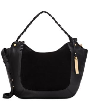 Vince Camuto Luela Small Shoulder Bag, Created For Macy's In Black