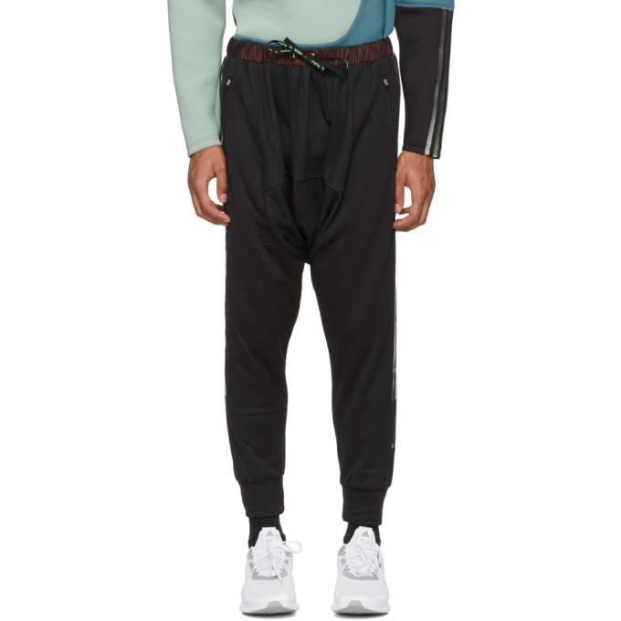 Adidas By Kolor Hybrid Jersey Performance Track Pants In Black