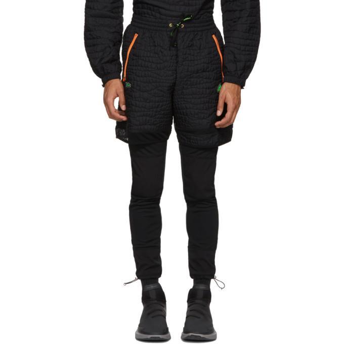 Adidas By Kolor Adidas X Kolor Black Nylon Embossed Shorts